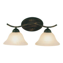 "Bel Air Lighting Pine Arch 2 Light 17"" Oil Rubbed Bronze Bath Bar"