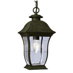 """Bel Air Lighting Halden 1 Light 15 """" Black Outdoor Pendant"""