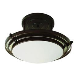 "Bel Air Lighting Halogen 3 Step 1 Light 16"" Oil Rubbed Bronze Semi Flushmount"