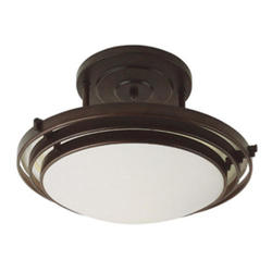 "Bel Air Lighting Halogen 3 Step 1 Light 20"" Oil Rubbed Bronze Semi Flushmount"