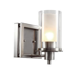 "Bel Air Lighting Nickel Square 1 Light 8.5 "" Brushed Nickel Wall Sconce"