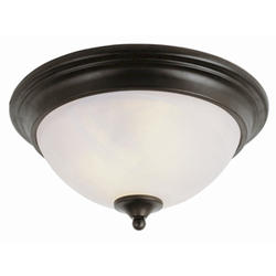 Patriot Lighting® Arabella 2 Light 13  Oil Rubbed Bronze Flushmount