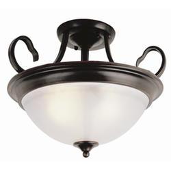 "Patriot Lighting® Arabella 3 Light 15"" Oil Rubbed Bronze Semi Flushmount"