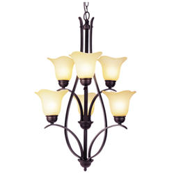 "Patriot Lighting® Adalynn 6 Light 23"" Oil Rubbed Bronze Chandelier"