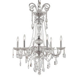 """Patriot Lighting® Elegant Home Aidan 6 Light 26"""" Chrome Chandelier"""