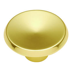 """Hickory Hardware Sunnyside Collection Polished Brass 1-1/2"""" Diameter Concave Knob"""