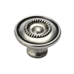 """Hickory Hardware Manor House Collection 1-1/8"""" Diameter Silver Stone Finish Knob"""