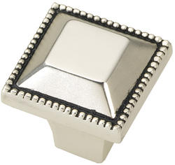 """Hickory Hardware Altair Collection 1"""" Square Beaded Rim Knob"""