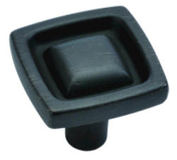 """Hickory Hardware Burke Collection 1"""" Square Knob"""