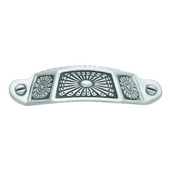 "Hickory Hardware Southwest Lodge Collection 3"" C/C Intricate Silver Medallion Cup Pull"
