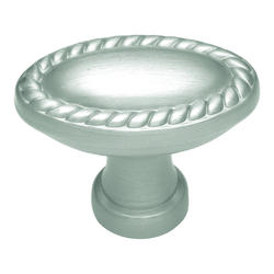 Keeler Annapolis Collection Oval Edged Rope Satin Nickel Knob