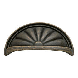 """Hickory Hardware Newport Collection Flower Burst 3"""" C/C Cup Pull"""