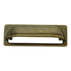 "Hickory Hardware Oxford Antique Collection Windover Antique 3"" C/C Rectangular Cup Pull"