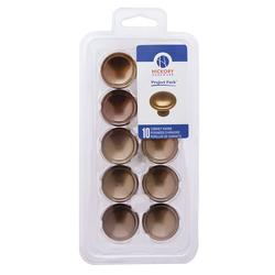 Hickory Hardware Conquest Collection Single Groove Knobs - Project Pack - 10 per pack