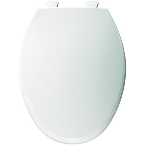 Bemis Elongated Plastic Toilet Seat With Easy Clean Change Hinge At Me
