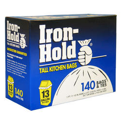 Iron-Hold 13-gal. Tall Kitchen Trash Bags - 140-ct
