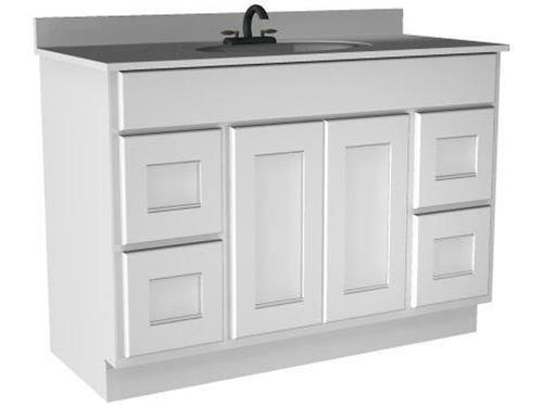 "Briarwood 48"" W x 21"" D x 34 1 2"" H Cottage Vanity Sink Drawers Right and Left at Menards"