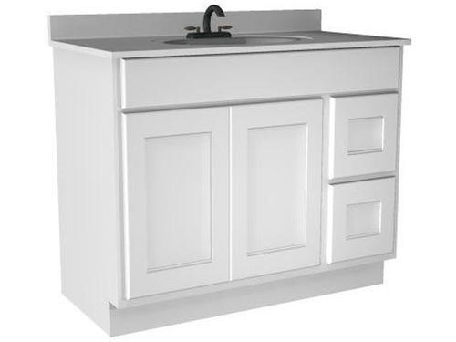 Briarwood 42 W X 18 D X 31 H Cottage Vanity Sink Drawers Right