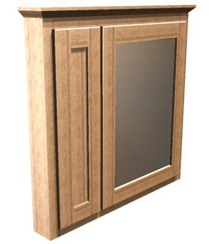 Briarwood 30 w x 33 h x 4 1 4 d centerpoint medicine cabinet mirror right at menards - Hickory medicine cabinet with mirror ...