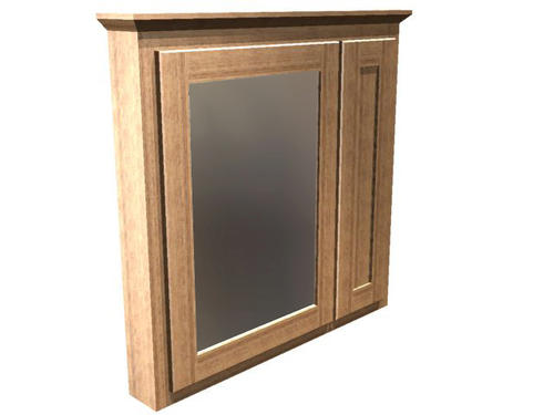 Briarwood 36 w x 33 h x 4 1 4 d centerpoint medicine cabinet mirror left at menards - Hickory medicine cabinet with mirror ...
