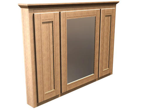 Briarwood 48 w x 33 h centerpoint medicine cabinet mirror center hinge right at menards - Hickory medicine cabinet with mirror ...