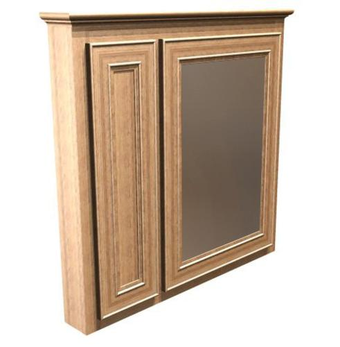 Briarwood 30 w x 33 h x 4 1 4 d highland medicine cabinet mirror right - Hickory medicine cabinet with mirror ...