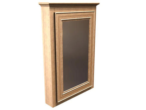 Briarwood 24 w x 33 h x 4 1 4 d highland medicine cabinet hinge right at menards - Hickory medicine cabinet with mirror ...