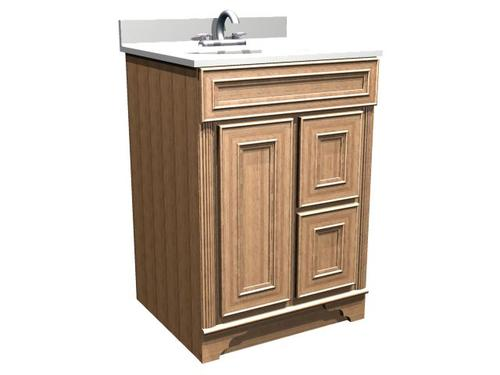 Briarwood 24 w x 21 d x 31 h highland vanity sink drawers right at menards for 24 bathroom vanity with drawers