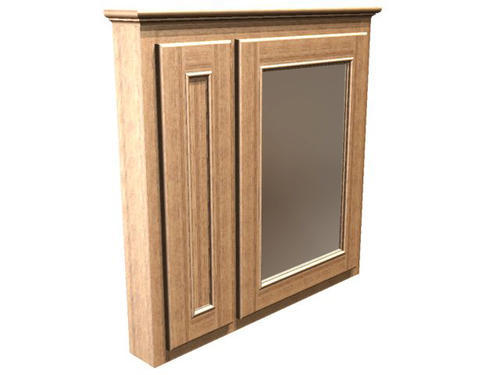 Briarwood 36 w x 33 h x 4 1 4 d woodland medicine cabinet mirror right at menards - Hickory medicine cabinet with mirror ...