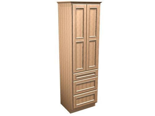 Briarwood 24 W X 18 D X 84 H Woodland Linen Cabinet W Drawers At Menards