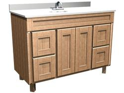 """Briarwood 48"""" W x 18"""" D x 34-1/2"""" H Centerpoint Vanity Sink (Drawers Right and Left)"""
