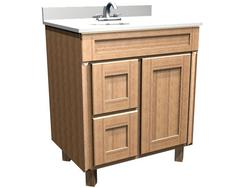 "Briarwood 30"" W x 21"" D x 34-1/2"" H Centerpoint Vanity Sink (Drawers Left)"