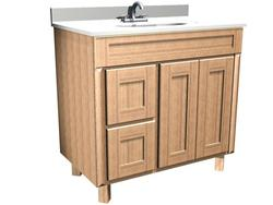 "Briarwood 36"" W x 18"" D x 31"" H Centerpoint Vanity Sink (Drawers Left)"