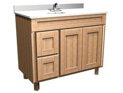 "Briarwood 42"" W x 21"" D x 34-1/2"" H Centerpoint Vanity Sink (Drawers Left)"