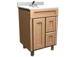 """Briarwood 24"""" W x 21"""" D x 34-1/2"""" H Centerpoint Vanity Sink (Drawers Right)"""
