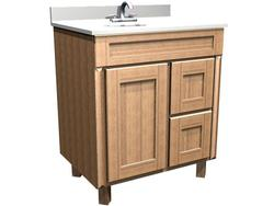"Briarwood 30"" W x 21"" D x 34-1/2"" H Centerpoint Vanity Sink (Drawers Right)"
