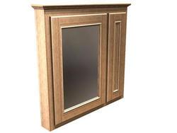 "Briarwood 36"" W x 33"" H x 4-1/4"" D Woodland Medicine Cabinet (Mirror Left)"