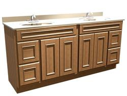"Briarwood Woodland Vanity Sink 72"" W x 18"" D x 34-1/2"" H (Drawers Right and Left)"