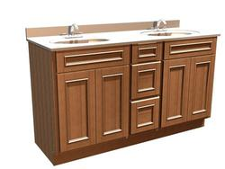 "Briarwood 60"" W x 18 D x 34.5 H Woodland Vanity Sink Center Drawers"