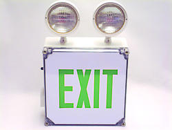 Best Lighting Indoor or Outdoor Wet Location EXIT Sign and Emergency Light with Battery Backup