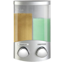 DUO Satin Silver Dispenser w/Chrome Buttons
