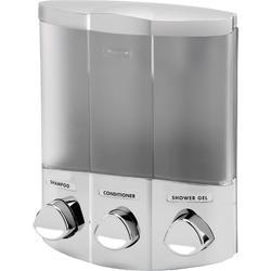 TRIO Satin Silver Dispenser w/Chrome Buttons