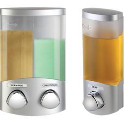 Euro Dispenser DUO & UNO Satin Silver Bundle