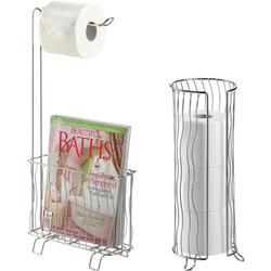 Wave Toilet Caddy & Tissue Roll Holder Bundle