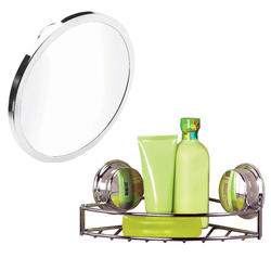 Twist'N'Lock Plus Soap Basket & Anti-Fog Mirror Bundle