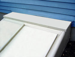 "Bilco Classic 6"" White Powder-Coated Extension Kit for Size C Door"