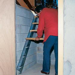 """Bilco 91"""" Long Galvanized Steel Size C Door Stair Stringers"""