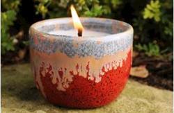 Mini Citronella Ceramic Candle Pots - Assorted