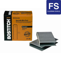 "Bostitch® 1/2"" Crown x 2"" Leg 15.5-Gauge Flooring Staples - 300 ct."