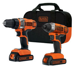 BLACK+DECKER™ 20-Volt Max* Lithium-Ion Drill and Impact Driver Combo Kit